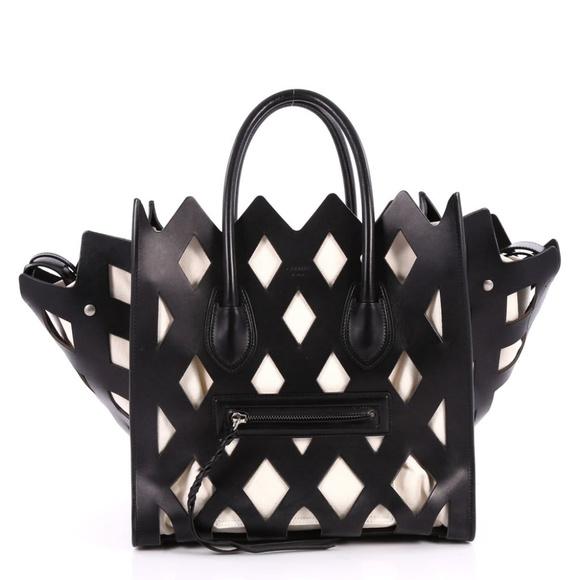 b662fe7738 Céline Black Medium Cutout Luggage Phantom Tote